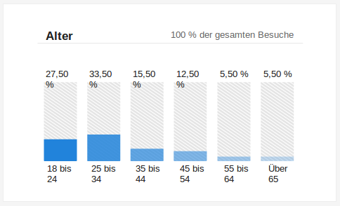 Besucherdaten - Alter